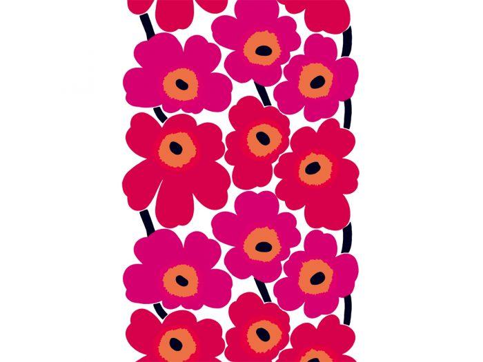 ファブリック 『ウニッコ』(ケシの花)、図案デザイン:マイヤ・イソラ、1964年 Unikko pattern designed for Marimekko by Maija Isola in 1964